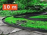10 Meter - flexible Kunststoff  Rasenkanten  mit 60 Securing  Anker gratis - Flexible...