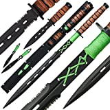 Sword of Zombie Dead 4 teilig Messer Schwert Wurfmesser
