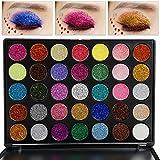 Valuemakers Professionale 35 Farben Glitter Powder Makeup Palette Lang Anhaltende und Mineral...