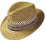 Erntehelfer Strohhut (Sonnenschutz) für Damen und Herren, cooler und modischer Sonnenhut im Trilby...