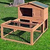 Zooprimus Kaninchenstall 06 Hasenkäfig - FLOCKE - Stall für Außenbereich (für Kleintiere: Hasen,...