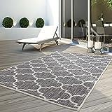 CC Teppich Flachflor Terrassenteppich Außenteppich Modern Outdoor fest Geknüpft Outside Outdoor...