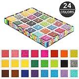 Stempelkissen,Topist 24 Farben Stempelkissen Set Stempelkissen Fingerabdruck,Wasserlöslich...