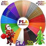 3D Stift Filament-16 Farben 6.1M PLA Filament 1.75mm für 3D Stift, 3D Drucker, kompatibel mit...