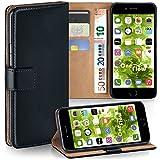 Apple iPhone 7/8 Hülle Schwarz mit Karten-Fach [OneFlow 360° Book Klapp-Hülle] Handytasche...