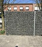 BBT@ / Gabione verzinkt 1030mm Steinkorb Steinzaun Gabione Zaun Sichtschutz Trennwand