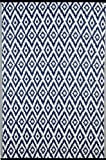 Green Decore Outdoor-Teppich 'Espero Blue', wendbar, leicht, Kunststoff, 90x 150 cm, Blau / Weiß