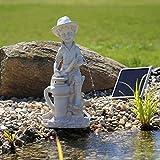 Solar Wasserspeier 'Bübchen' Wasserspiel Springbrunnen für Teich oder Wasserbecken