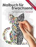 Malbuch für Erwachsene: Fantastisches Tierreich (Kleestern®, A4 Format, 40+ Motive) (A4 Malbuch...