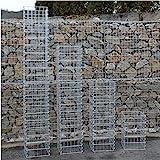 Eckige Gabionen-Säule - Höhe wählbar: 50 / 100 / 150 / 200 cm 4-Eck Säulengabione Steinkorb...