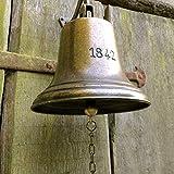Glocke - Schiffsglocke mit sehr lautem Klang, historisches Modell Antik Messing