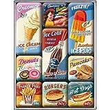 Nostalgic-Art 83069 USA - American Diner | Retro Magnet-Set (9teilig) | Kühlschrank-Magnete |...