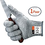 Schnittschutzhandschuhe MYCARBON Schnittfeste Küchehandschuhe Handschuhe Schnittschutzklasse 5 EN...