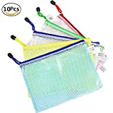 Wskderliner Dokumententasche A5 Klett Zip Beutel Reissverschluss Mesh Bag Farbig Plastic Zipper...