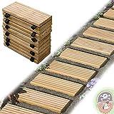 Rollweg Holz 35x250 cm Gartentritte Holz-Tritte, Holz-Fliesen für den Weg im Garten von...