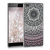 kwmobile Hülle für Huawei P8 - TPU Silikon Backcover Case Handy Schutzhülle - Cover klar Indische...