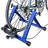 Relaxdays Fahrrad Rollentrainer inkl. Schaltung mit 6 Gänge für 26-28', bis zu 120 Kg belastbar,...