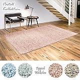 Shaggy-Teppich Pastell Kollektion | Flauschige Hochflor Teppiche fürs Wohnzimmer, Esszimmer,...