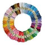 SOLEDI Stickgarn Embroidery Floss multifarben weicher Baumwolle perfekt für Friendship Bracelets...