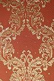 Vinyltapete Tapete Barock Retro # orange/gold # Fujia Decoration # 85789