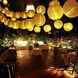 Qedertek Solar Lichterkette Weihnachten, Lampion, Laterne, 6m, 30er LED, 2 Arbeitsmodi,...