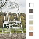 CLP 2 Sitzer / 3 Sitzer Garten Hollywoodschaukel AIMEE, Landhaus-Stil, Metall (Eisen) antik-weiß