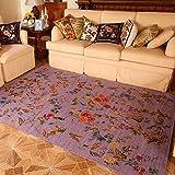 European Pastoral Style Teppich Couchtisch Schlafsofa Nachttisch Lila ( größe : 140×200cm )