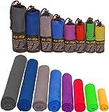 Mikrofaser Handtücher in ALLEN Größen / 12 Farben – klein, leicht und ultra saugfähig - das...