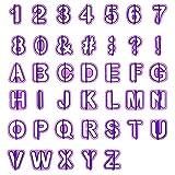 LEMESO LIHAO 40tlg Ausstecher Buchstaben Fondant Ausstechformen Alphabet Zahlen Zeichensetzung...