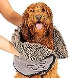 Dirty Dog Shammy Hundehandtuch, 79 x 33 cm, grau