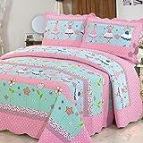 Alicemall Tagesdecke Baumwolle Bettüberwurf 150x200cm Sofa Couch Kinder Überwurf Decke Sommerdecke...