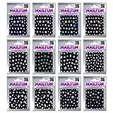 12 Bogen Nailsticker Weihnachten 3D SN-Serie - über 570 Stück Nagelsticker - wunderschöne Motive...