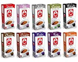 100 Nespresso kompatible Kapseln von Bonini - Probierpaket mit 10 Sorten (10 x 10 Kapseln)