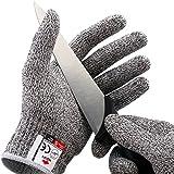 NoCry Schnittfeste Handschuhe – Leistungsfähiger Level 5 Schutz, lebensmittelecht. Größe : M, 1...