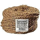 Ø 7.0 mm Kokosseil | Kokos-Tau: braune Garten-Schnur | Baum-Kordel aus 100% Naturfasern...