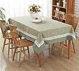 SYHOME Tischdecke Tischtuch Im europäischen Stil rustikal Stoffen rechteckiger Couchtisch Esstisch...
