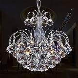 Glighone LED Kronleuchter Kristall Pendelleuchte Deckenleuchte Modern Anhänger Kristallkronleuchter...