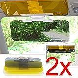 EMOTREE 2x Auto Blendschutz Sonnenschutz Nachtsicht Sichtschutz Sonnenblende Sonnenbrille Tag und...