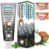 Kokosnuss Aktivkohle Zahnpasta, Natürliche Zahnaufhellung Zahnpasta, Schwarze Zahnpasta, Activated...