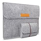 Inateck Filz Sleeve Laptop Schutzhülle, umweltfreundliche Notebook Schutztasche für neues MacBook...