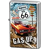 Nostalgic-Art 80235 US Highways - Highway 66 Red Car Gas Up, Feuerzeug