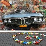 Graffiti-Auto-Kunst Wandbild 3D Foto-Tapete Kinder Schlafzimmer Haus Dekor Erhältlich in 8 Größen...
