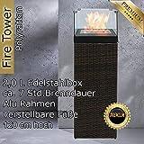 Bio Ethanol Feuersäule Feuerschale Feuerstelle Feuerkorb Kamin Ofen für Garten und Terrasse aus...