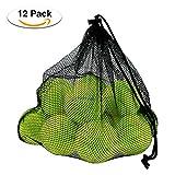 Philonext 12 Pack Tennisbälle mit Mesh Tragetasche, Tennisbälle Fort Tournament, Tennis practice...