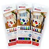 Porzellan-Pinselstift edding 4200, 3 x 6er-Set, 1 - 4 mm, family-, warm-, cool-colour Set
