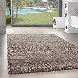 Shaggy Hochflor Langflor Teppich Wohnzimmer Carpet UNI Farben, Rechteck, Rund,. , Größe:200x200 cm...
