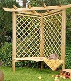 Cambridge Pergola mit Bank. Rosenbögen aus Fichtenholz für Ihren Garten