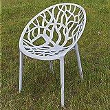 ECENCE Garten-Stuhl Boom Stapelbar Kunststoff Grau Küchenstuhl Bistrostuhl Stapelstuhl Sessel...