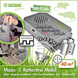 ISOTRONIC Mäuseabwehr Ultraschall Ratten- und Mäusevertreiber mobil Nagerabwehr Tiervertreiber...