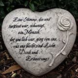 Grabherz Trauerspruch Eine Stimme, die uns vertraut war schweigt, ein Mensch